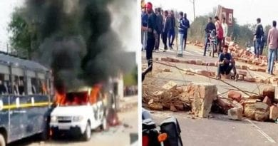 vehicles-that-were-torched-in-the-violent-movement-of-the-gujjar-agitation